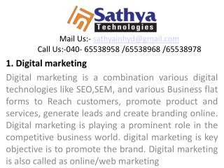 Digital Marketing – Best software training institute