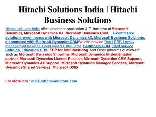 Hitachi Solutions India   Hitachi business solutions