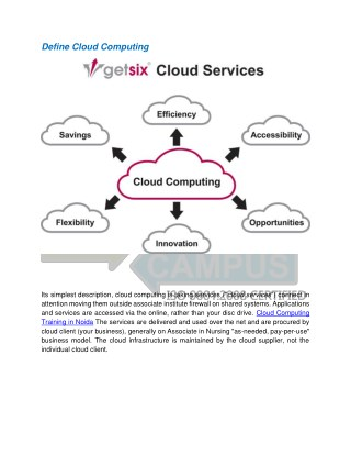 Cloud Computing Training in Noida - Croma Campus