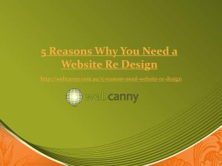 5 Reasons Why You Need a Website Re Design