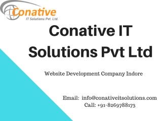 Find Web Development Company Indore – Conative IT Solutions