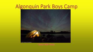 Algonquin Park Boys Camp