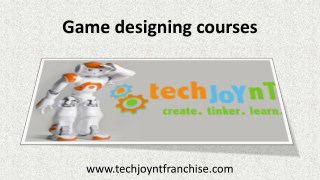 Game designing courses