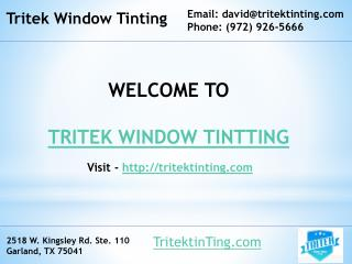 Best home window tinting dallas