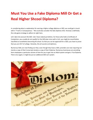 Fake Diplomas, Degrees and Transcripts - Review