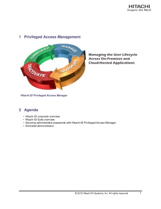 Hitachi ID Identity and Access Management Suite