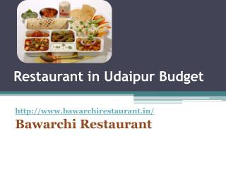 Restaurants in Udaipur Budget