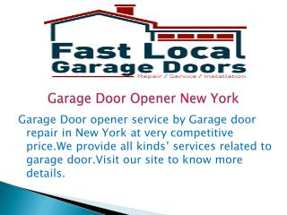 Garage Door Opener New York