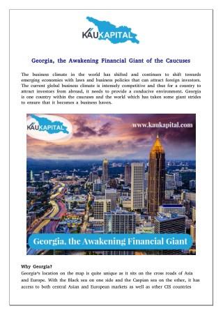 Georgia, the Awakening Financial Giant of the Caucuses
