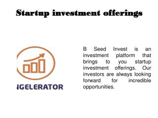 Investment for credited investor