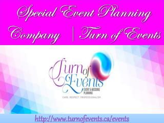 Special Event Planning Company  | Turn of Events