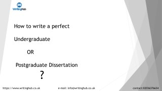 The best dissertation writing service in UK-WritingHub