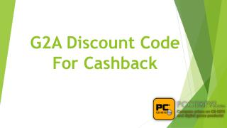 G2A Discount Code For Cashback