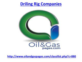 Which one is the best driling rig companies