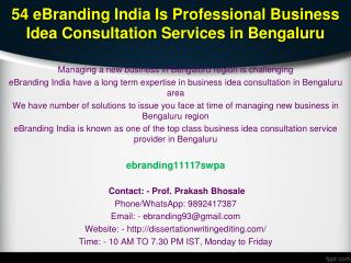 54 eBranding India Is Professional Business Idea Consultation Services in Bengaluru