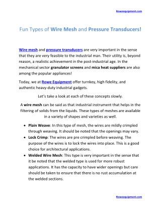 Row Equipment or Pressure transducers   Roweequipment