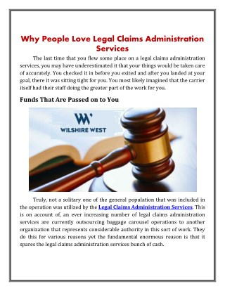 Legal Claims Administration Services | Wilshirew