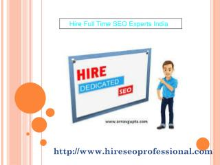 Hire Full Time SEO Experts India