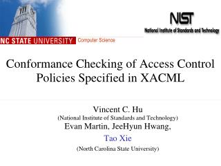 Conformance Checking of Access Control Policies Specified in XACML