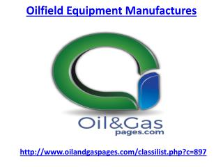 Where is the best oilfield equipment manufactures in UAE