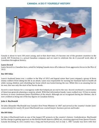 Canada: A Do It Yourself History