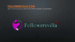 Buy instagram followers at low price with followersvilla