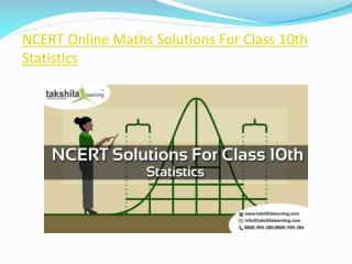 NCERT Online Maths Solutions For Class 10th Statistics