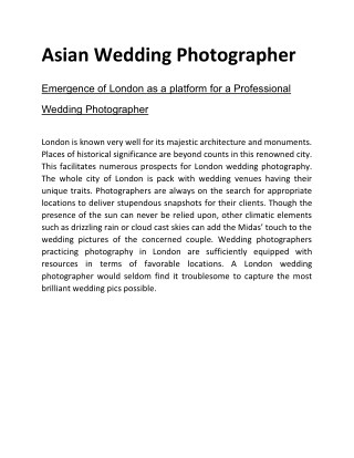 Asian Wedding Photographer