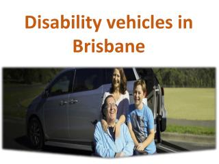 Disability Vehicles in Brisbane