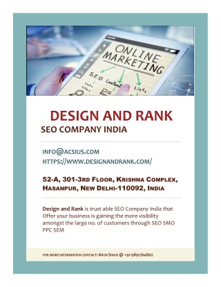 SEO Company India - Design and Rank