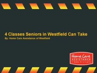 4 Classes Seniors in Westfield Can Take
