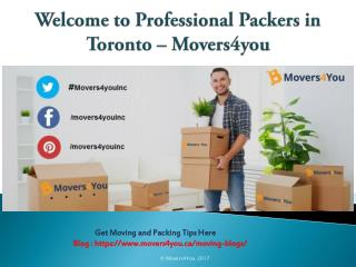 Packing Services in Toronto |Best Professional Packers Toronto – Movers4you