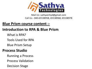 Blue Prism Best Software Training Institute
