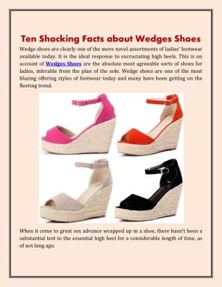 Ten Shocking Facts about Wedges Shoes