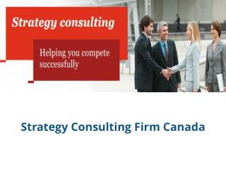 Strategy Consulting Firm Canada