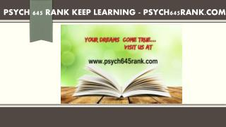 PSYCH 645 RANK Keep Learning /psych645rank.com