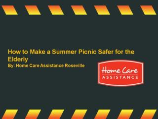 How to Make a Summer Picnic Safer for the Elderly