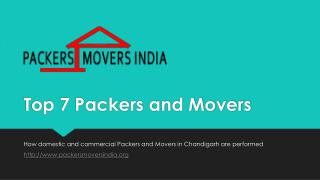 Make your move easy with Top 7 Packers and Movers