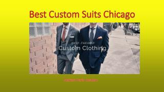 Best Custom Suits Chicago