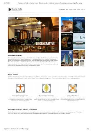 Chaukor Studio : Office Interior design firm