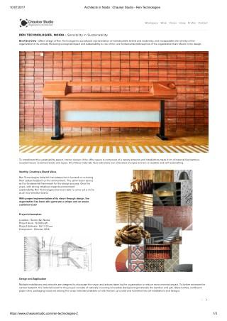 Chaukor Studio : Ren Technologies , office interior design