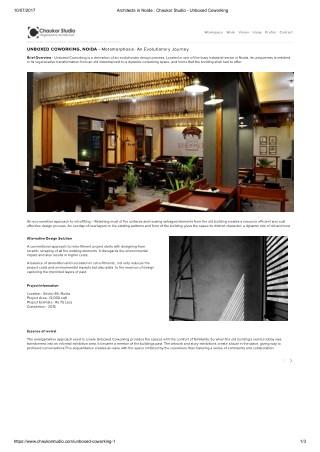 Chaukor Studio :Unboxed Coworking office interior design