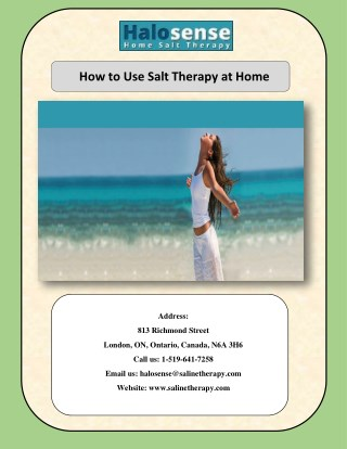 How to Use Salt Therapy at Home