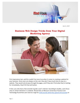 Business Web Design Tricks from Your Digital Marketing Agency