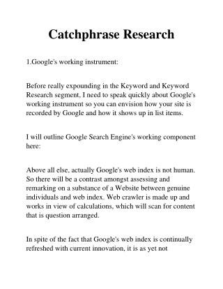 Keyword research 7
