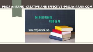 PROJ 595 RANK  Creative and Effective /proj595rank.com