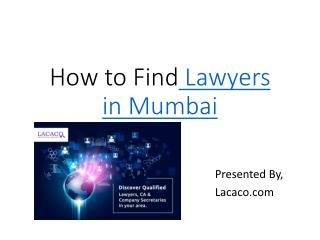 Lawyers in Mumbai, Top lawyers & Advocates in Mumbai | LACACO