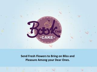 Send Fresh Flowers Wishing all the Best Wishes | Bookthecake