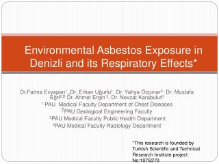 Environmental Asbestos Exposure  in Denizli  and its Respiratory Effects *