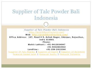 Supplier of Talc Powder Bali Indonesia